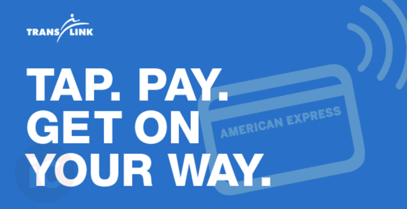TransLinks Now Accepts AMEX via Apple Pay and Contactless Credit Cards