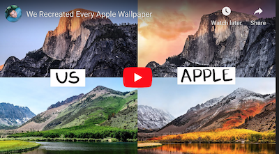 Here's How You Can Recreate Apple's California Wallpapers [VIDEO]