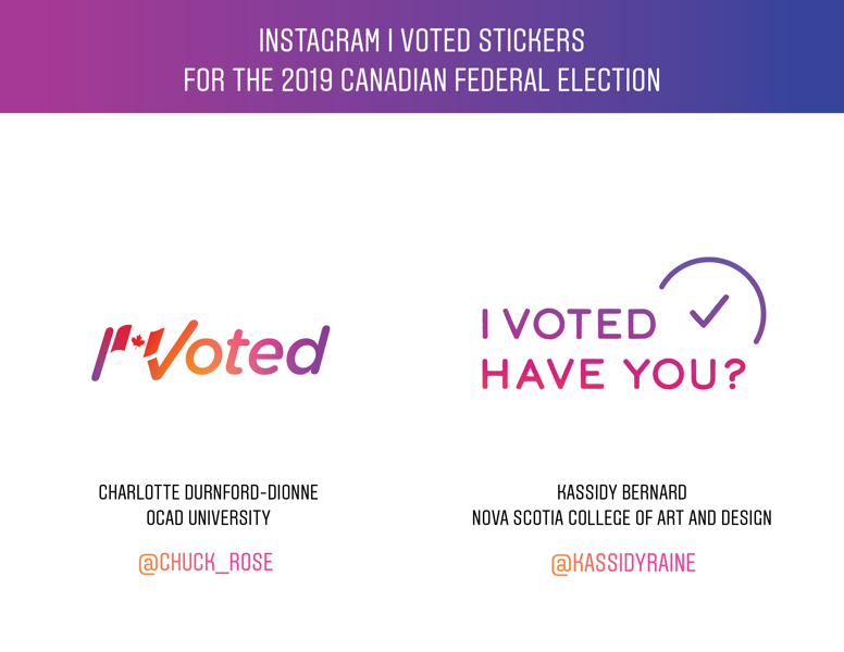 Canadian I Voted Stickers