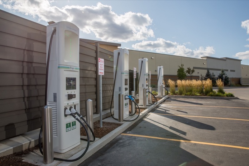 Large Electrify Canada Opens First Charging Station in Canada 25
