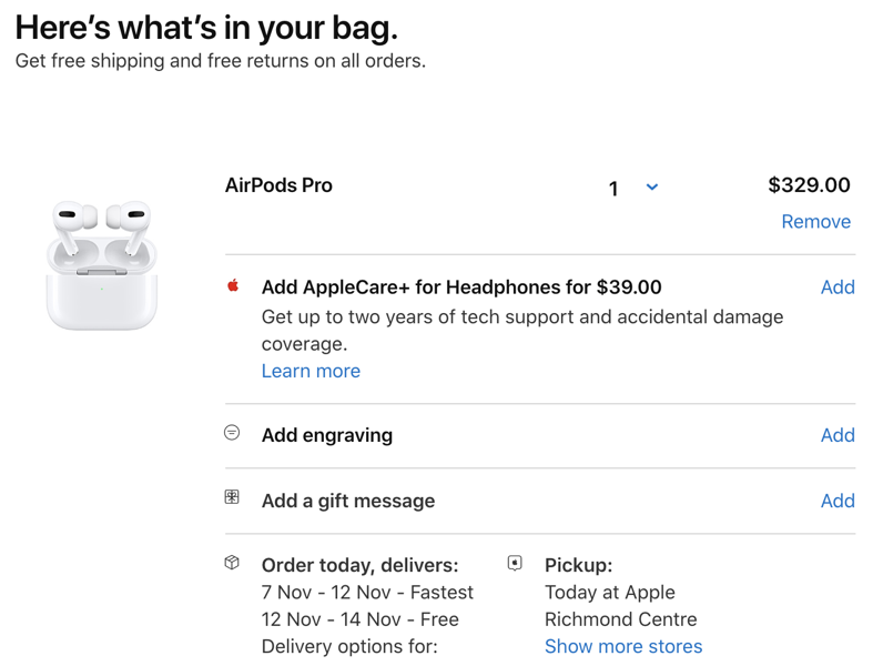 Airpods pro launch canada