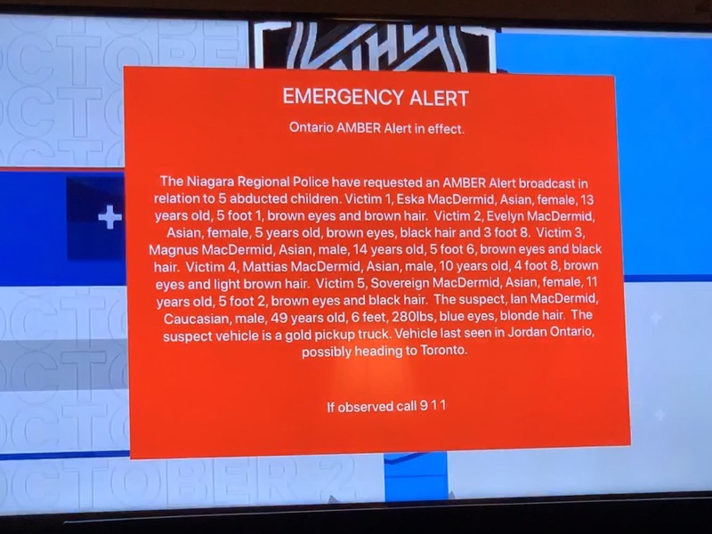 Amber alert Apple tv