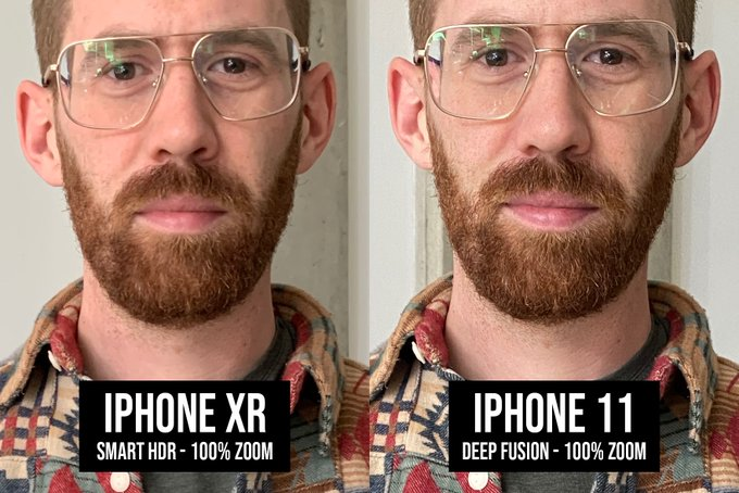Deep fusion tests iphone 11