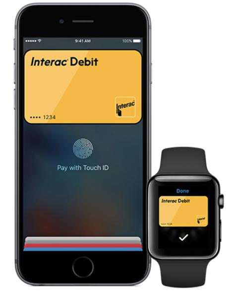 Interac debit apple pay