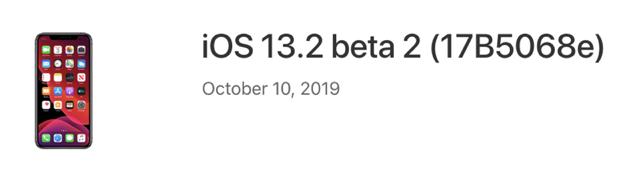 Ios 13 2 beta 2