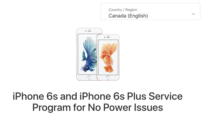 Iphone 6s 6s plus service program