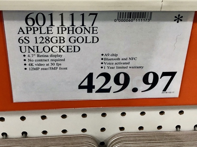 Iphone 6s costco clearance