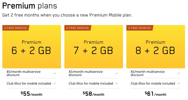 Premium plans videotron