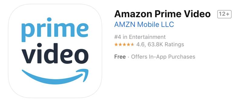 Prime video app app store