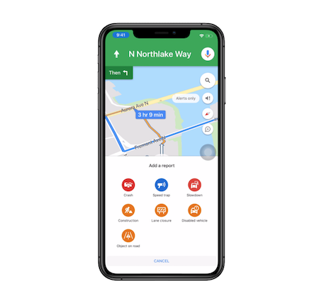 Google Maps Now Lets Users Report Driving Incidents from iPhones