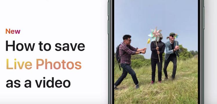 Save live photos video