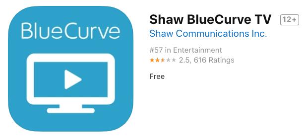 Shaw bluecurve tv app