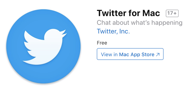 Twitter for macOS Catalina