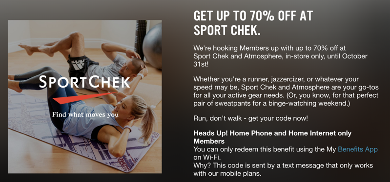 Virgin mobile sport chek