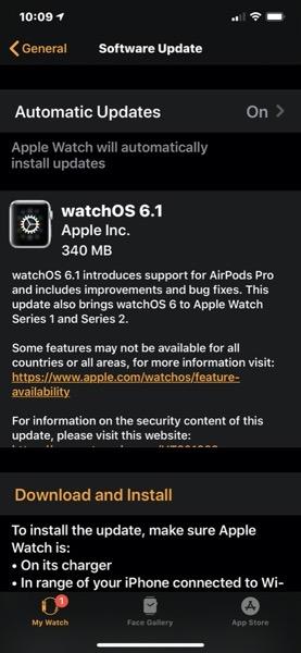 WatchOS 6 1
