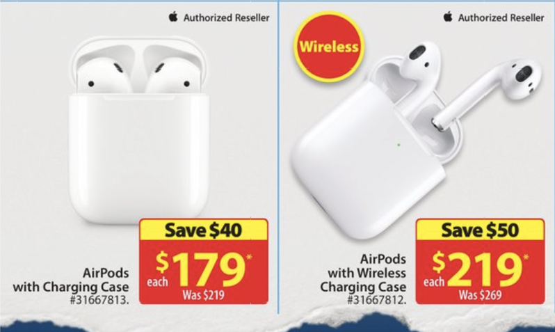 Walmart Canada Early Black Friday Deals 50 Off Apple Airpods 2 And More Iphone In Canada Blog
