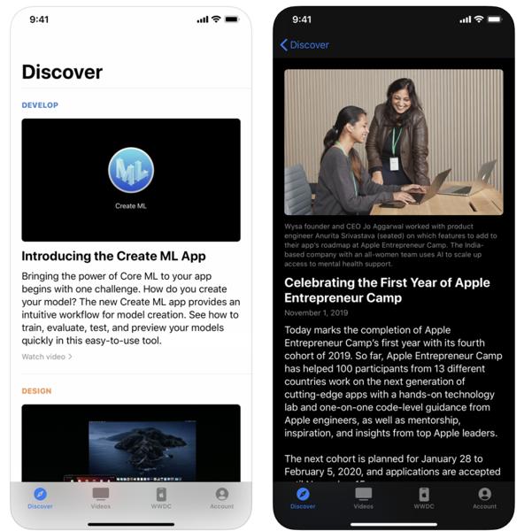 Apple developer app dark mode