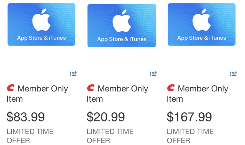 Apple itunes card sale costco black friday