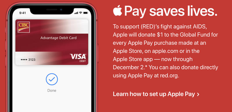 Apple pay RED 2019