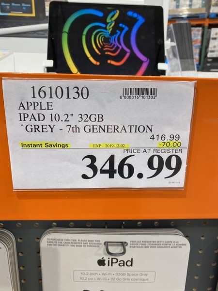 Costco ipad deal