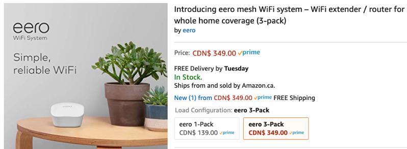 Eero mesh wifi