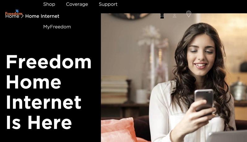 Freedom home internet here