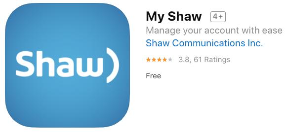 My shaw iphone app