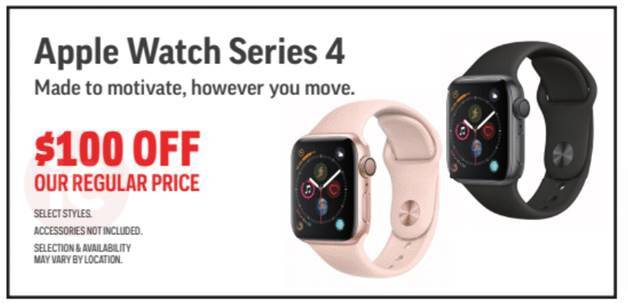 Sport Chek Black Friday Deals: $100 Off Apple Watch Series 4 with Bonus Gift Cards, No Tax