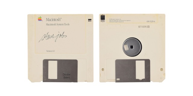 Steve jobs signed floppy disk