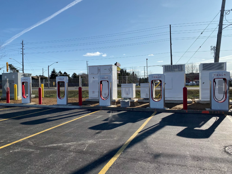 Tesla supercharger thunder bay