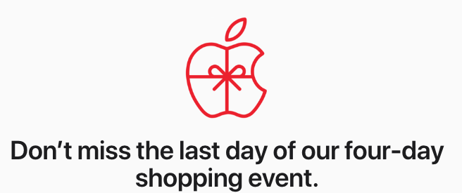 Apple shopping event last day