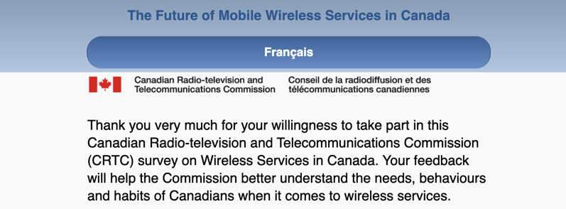 Crtc online survey wireless