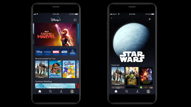 Disney plus mobile app