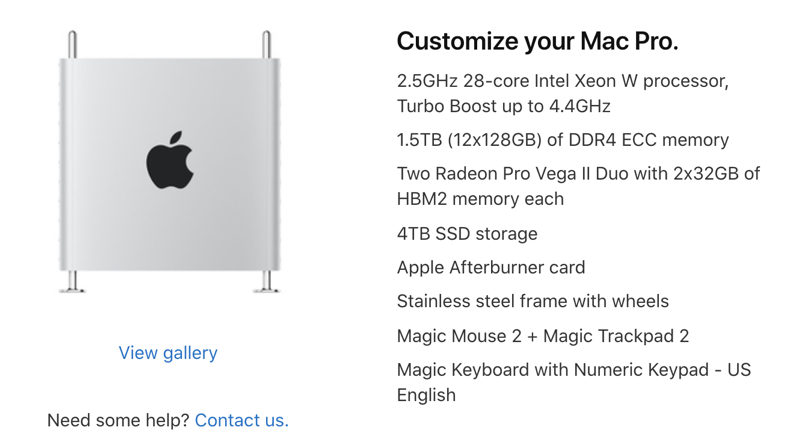 Mac pro maxed out specs