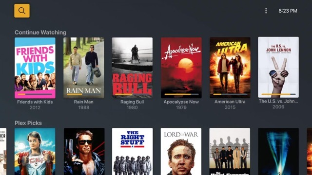 Plex movies and tv home 1440x810