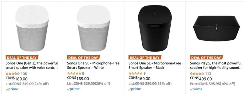 Sonos cyber monday amazon