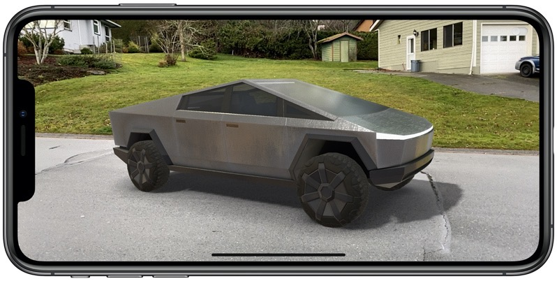Tesla cybertruck AR