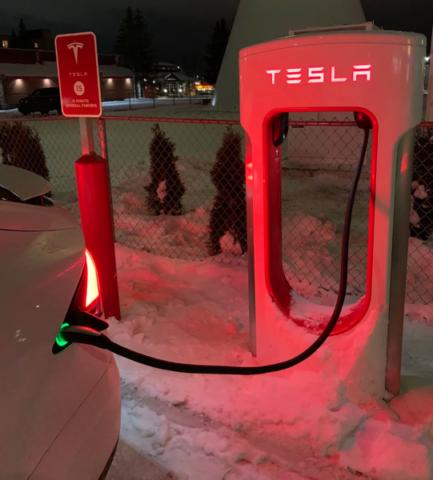 Tesla supercharger sault ste marie