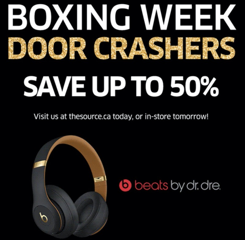 The source boxing week door crashers