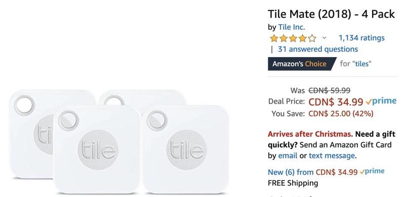 Tile tracker amazon low