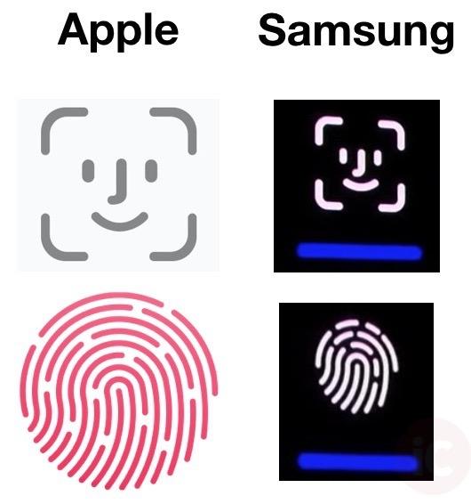 Apple samsung face id