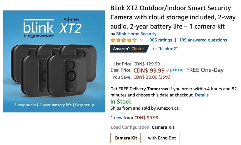 Blink xt2 cameras