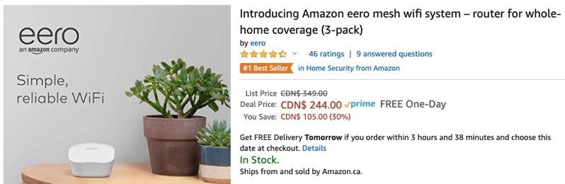 Eero mesh wifi 3 pack