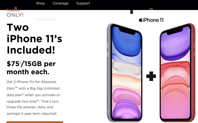 Freedom mobile iphone 11