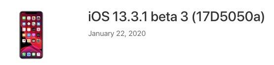 Ios 13 3 1 beta 3 download