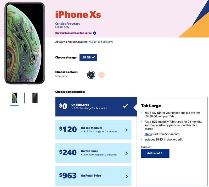 Koodo iphone xs deal