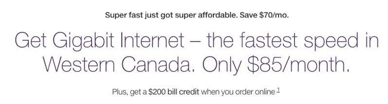 Telus gigabit internet
