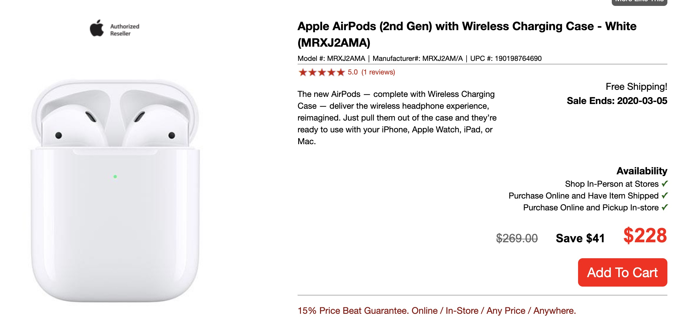 airpods 2nd generation price