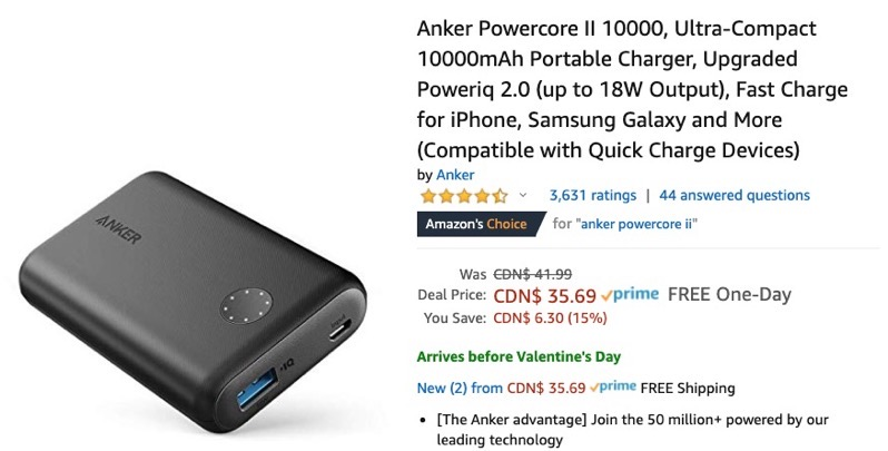 Anker deals powercore