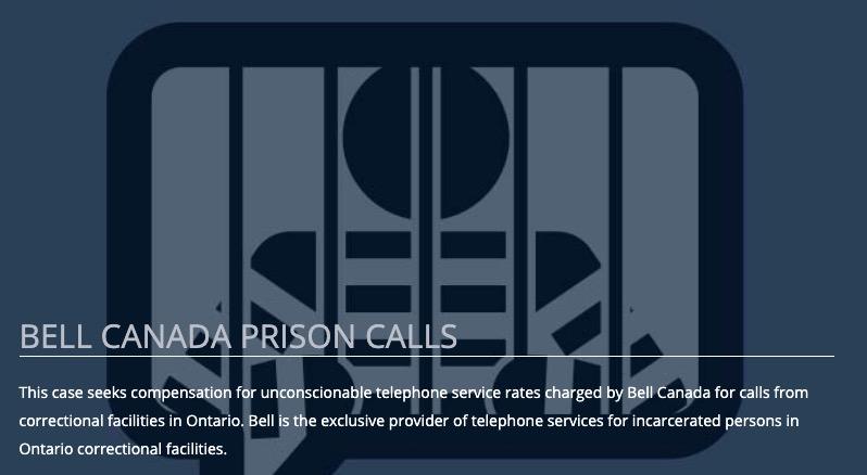 Bell canada prison calls
